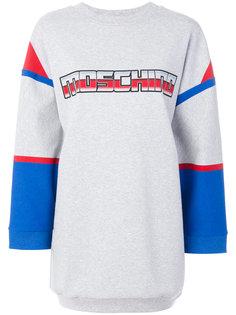платье-свитер с логотипом в стиле трансформеров Moschino