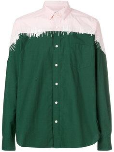 двухцветная рубашка Sacai