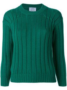 свитер с круглым вырезом с ребристой фактурой Prada
