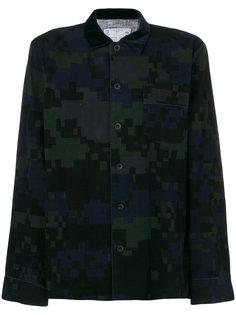 рубашка с пиксельным камуфляжным узором Sacai