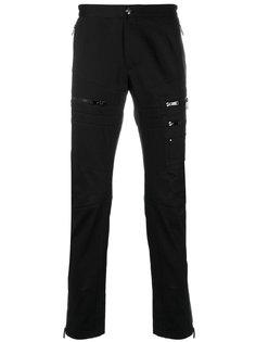 байкерские брюки с молниями Versace
