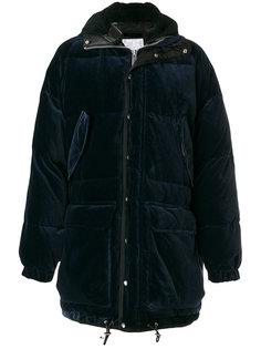 бархатная дутая куртка Sacai