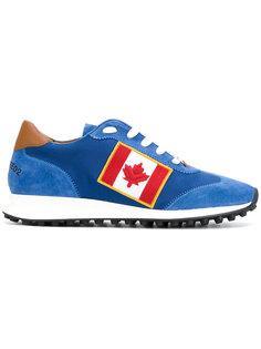 кроссовки с Канадским флагом Dsquared2