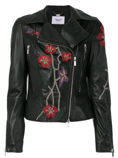 байкерская куртка с вышивкой Blugirl
