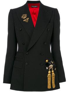 блейзер с отделкой  Dolce & Gabbana