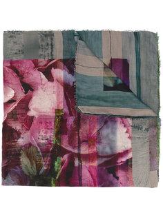 шарф с цветочной вышивкой Faliero Sarti