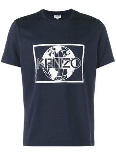футболка с принтом с логотипом и земным шаром Kenzo