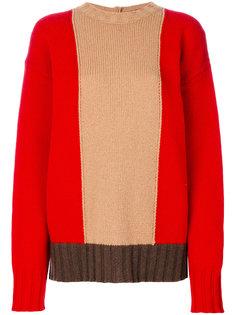 свободный свитер колор блок  Marni