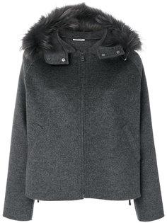 пальто с капюшоном с меховой отделкой P.A.R.O.S.H.