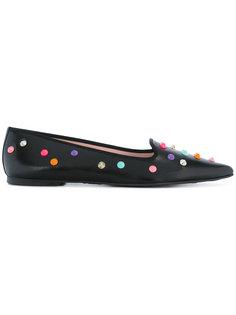 балетки с заостренным носком с разноцветными заклепками Pretty Ballerinas