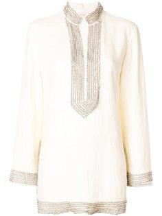блузка с воротником с отделкой из кристаллов Tory Burch