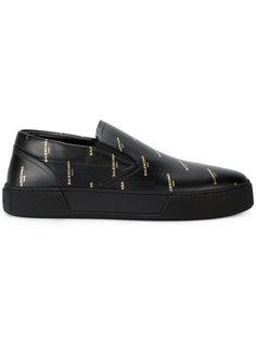 кроссовки с принтом нового логотипа Balenciaga