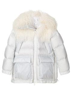 куртка с отделкой на капюшоне  Sacai