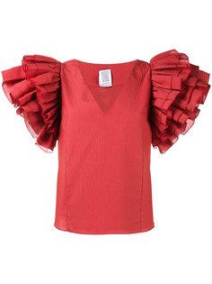 блузка с оборками на рукавах  Rosie Assoulin