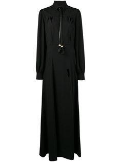платье на пуговицах с кисточками  Prada
