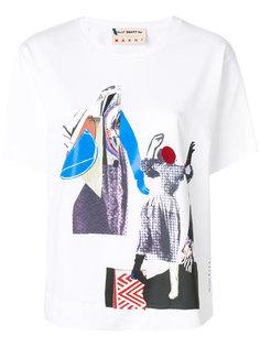 футболка с абстрактным принтом Marni