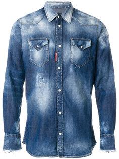 джинсовая рубашка с линялым эффектом  Dsquared2