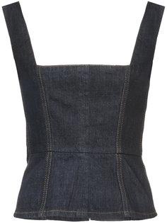 джинсовый топ-корсет Alexa Chung