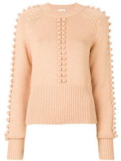 свитер с декором из вязаных шариков Chloé