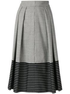 юбка с узором в ломаную клетку Marco De Vincenzo
