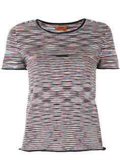 укороченная футболка с принтом  Missoni