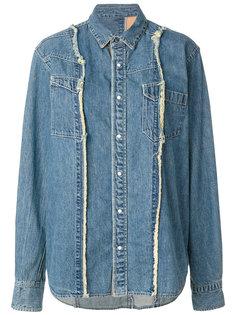 джинсовая рубашка с необработанными швами Sacai