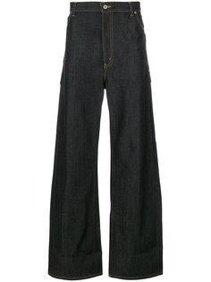 широкие джинсы с леопардовыми карманами Junya Watanabe Comme Des Garçons
