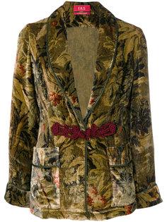 бархатный пиджак с узором F.R.S For Restless Sleepers