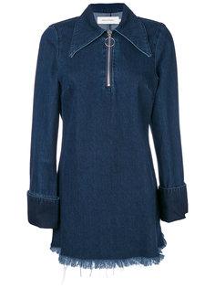 джинсовое платье с воротником на молнии Marquesalmeida