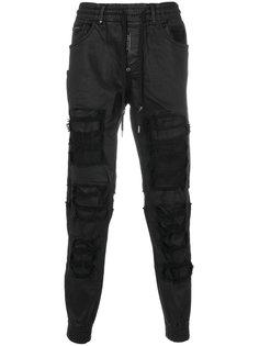 брюки с потертой отделкой Philipp Plein