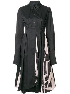 расклешенное платье-рубашка Jil Sander Navy