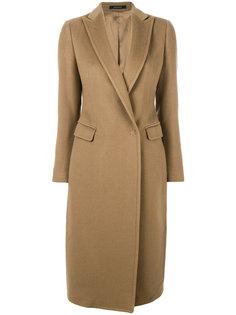 пальто с потайной застежкой Tagliatore