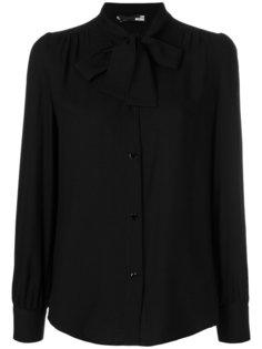 блузка с воротником с завязкой на мягкий бант Love Moschino