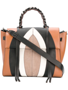 сумка-тоут с панельным дизайном Elena Ghisellini