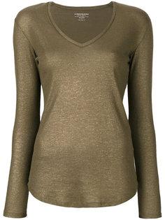 блузка с V-образным вырезом Majestic Filatures