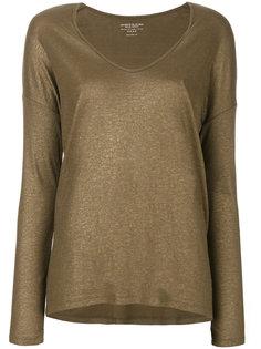 свитер с вырезом-ковш Majestic Filatures