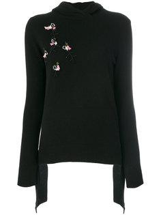 кашемировый свитер с цветочной вышивкой Cashmere In Love