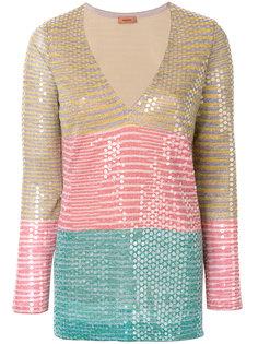 блузка в полоску с пайетками Missoni