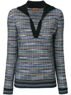 свитер с V-образным вырезом в клетку Missoni