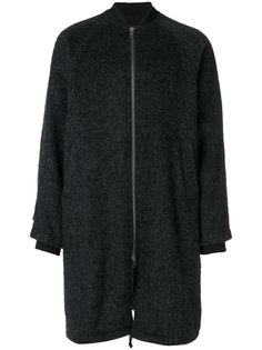 пальто мешковатого кроя на молнии Ann Demeulemeester Grise