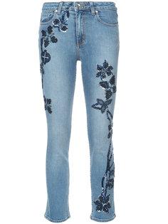 джинсы кроя слим с вышивкой Jonathan Simkhai