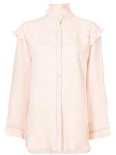 блузка с отделкой из рюшей Derek Lam