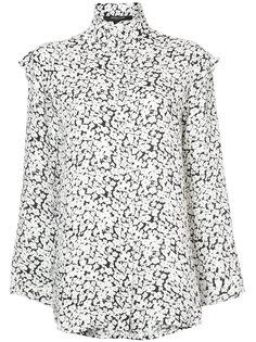 рубашка с оторочкой из рюшей Derek Lam