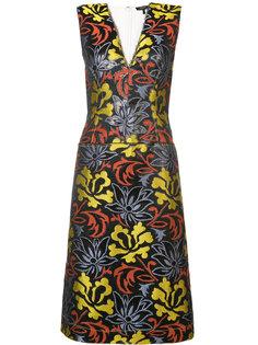 приталенное платье с V-образным вырезом Derek Lam