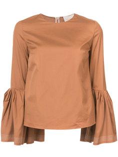 блузка с пышными рукавами Roksanda