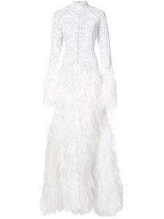 декорированное вечернее платье  Jonathan Simkhai