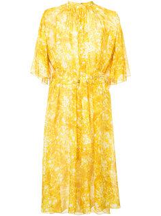 платье с цветочным принтом и поясом Sonia Rykiel