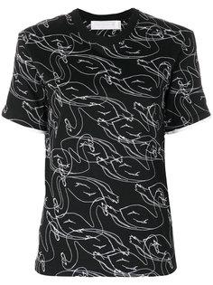 футболка с простроченной отделкой Victoria Victoria Beckham