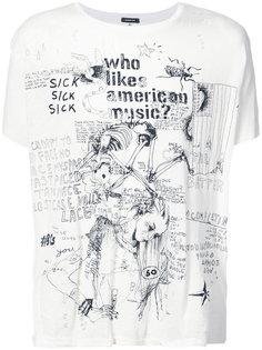 футболка с принтом R13
