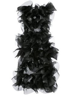 текстурированное платье миди из органзы Roberts Wood